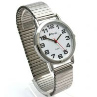 Ravel Men's Super-Clear Quartz Watch with Expanding Bracelet sil #05 R0208.02.1s